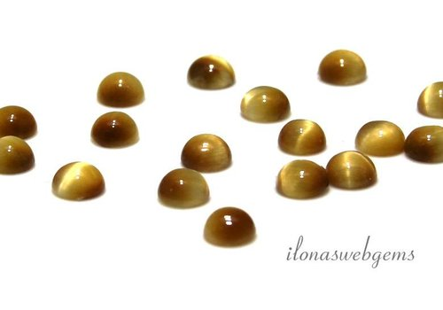 Yellow Tiger Eye 6mm Cabochon