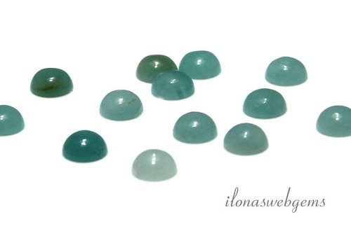 Amazonite 6mm Cabochon