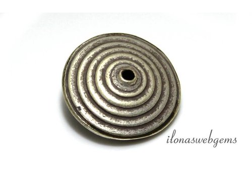 Hill tribe sterling silver bead / disc