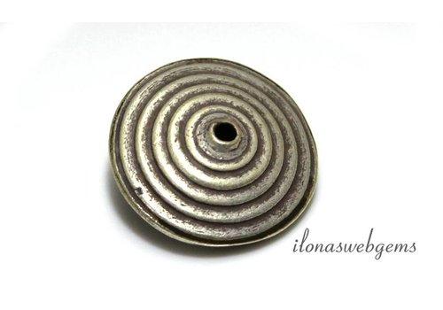 Sterling zilveren Hill tribe kraal/disc