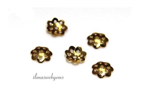 10 Stück Vermeil Perlenkappe