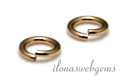 1x 14k/20 Gold filled lock-in oogje mini ca. 2.8x0.5mm