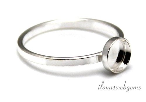 Sterling zilveren ring voor cabochon 8mm