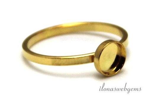 Vermeil Ring Cabochon 8mm