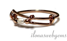 Inspiration Ring: Rose Gold gefüllt, Süßwasser-Zuchtperlen