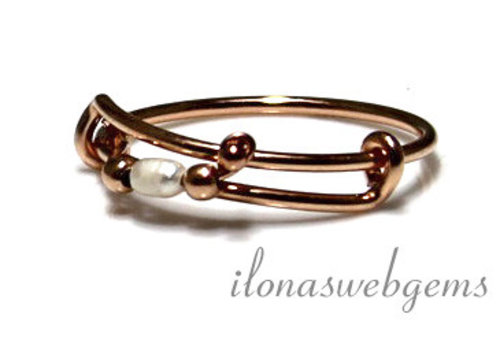 Inspiratie ring: 14k/20 Rosé gold filled, Zoetwaterparel