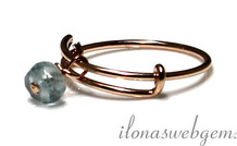 Inspiration Ring: Rose Gold gefüllt, Aquamarin