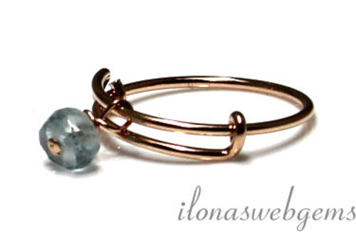 Inspiration Ring: Rose gold filled, Aquamarine