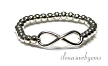 Inspiration Ring Sterling Silber Infinity-Stecker