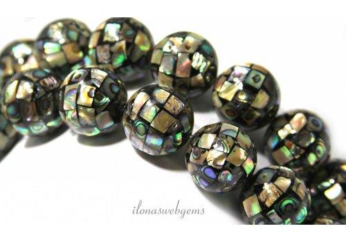 Abalone beads round 20mm
