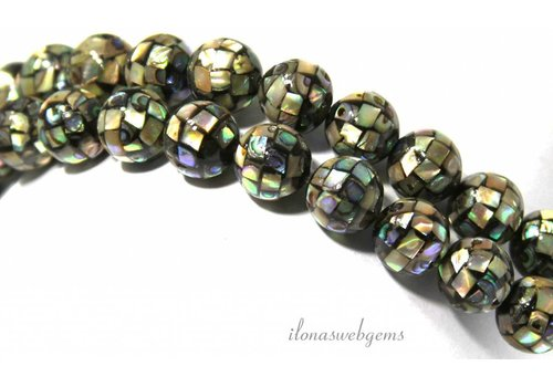 Abalone beads approx 14mm