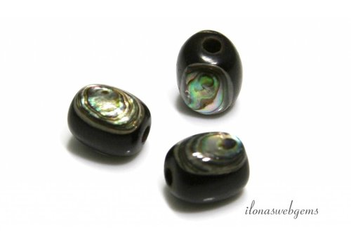 Abalone bead approximately 12x10mm