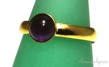 Inspiratie ring: Vermeil, Amethist cabochon 6mm