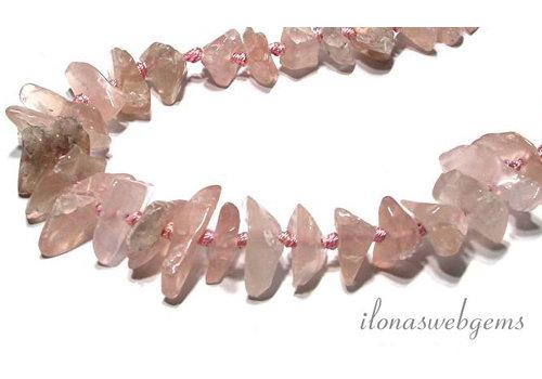 Rose quartz beads app. 15x9-22x6mm