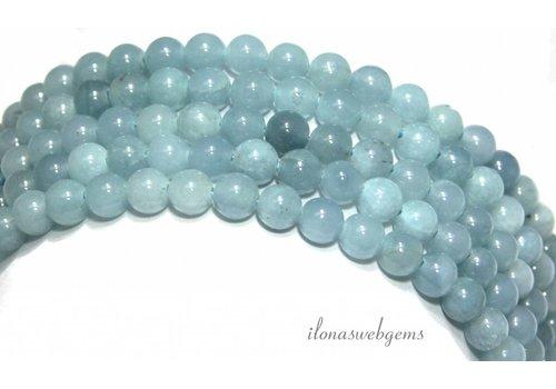 Jade Perlen 'Aquamarin' etwa 6,5 mm