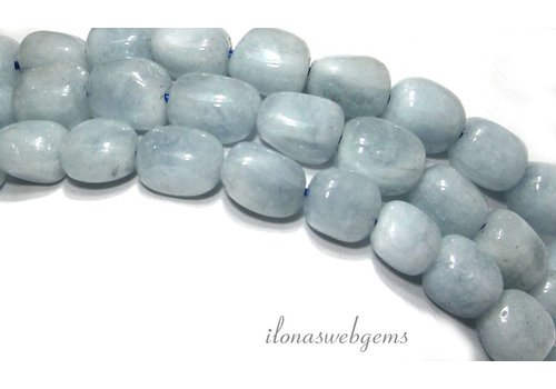 Aquamarine beads nugget about 8.5x7mm
