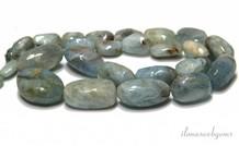 Aquamarin Perlen Halsband um 10-16x8-19mm
