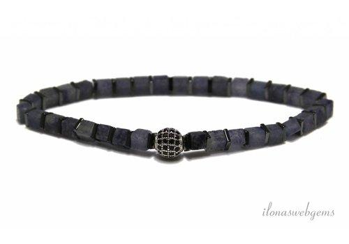 Inspiration Armband: Blauer Aventurin, Hämatit, DQ Wulst