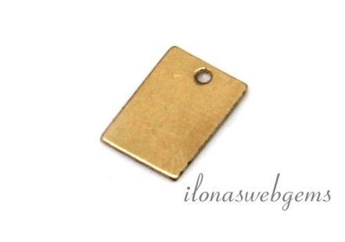 14k/20 Gold filled labeltje ca. 9x6mm