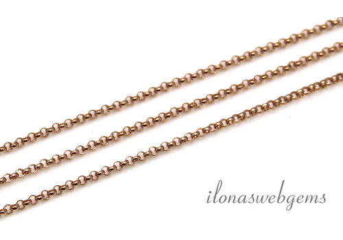 10cm 14k / 20 Rose gold filled chain jasseron / Shackles