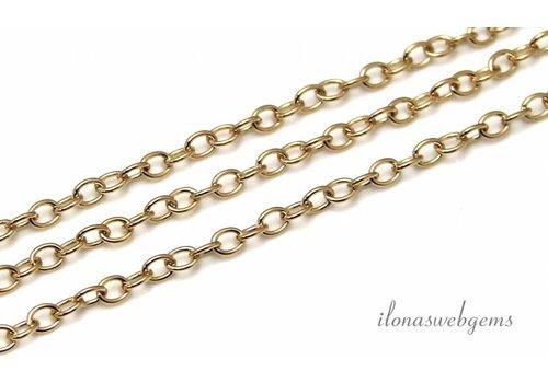 1cm 14k/20 Gold filled ketting / schakels