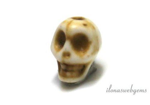 1 Howliet kraal Skull ca.7x8mm