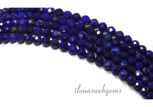 Lapis Lazuli beads facet around mini approx 3.5mm AAA quality