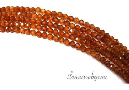 Orange Granat facettiert Perlen um 2.2mm Mini ca.