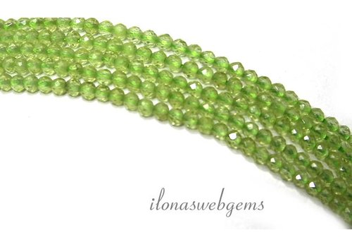 Peridot beads round faceted mini approximately 2.2mm