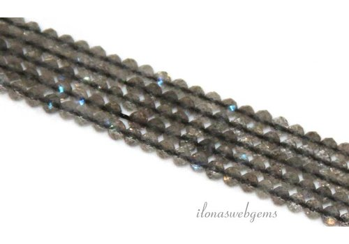 Labradorite beads roundel faceted mini about 2.5x2mm AAA grade