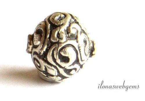 Silber Tibetanische Repousse Perle