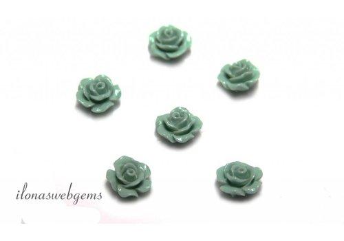 Koraal roosje ca. 10mm (kraal)
