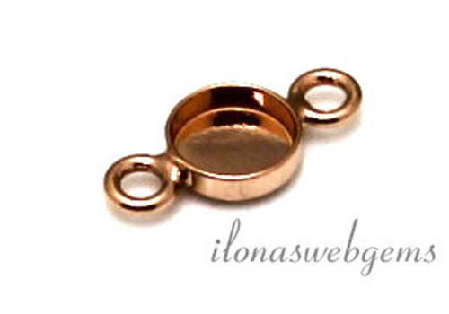 Rose Vermeil Stecker Cabochon 8mm