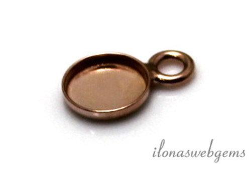 Rose vermeil pendant for cabochon 8mm