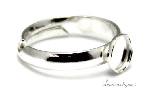 Sterling zilveren ring voor cabochon 8mm