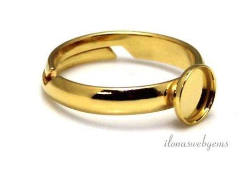 Vermeil ring for cabochon 8mm