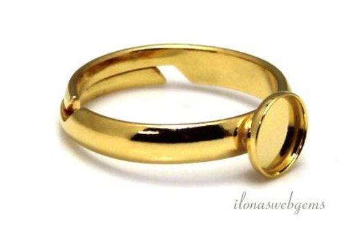 Vermeil Ring für Cabochon 8mm