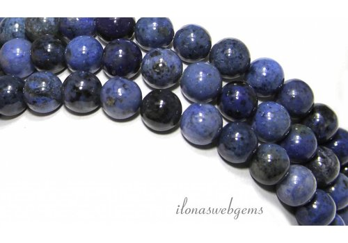 Dumortierite beads about 8mm
