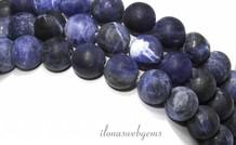 Sodalith Perlen bereift ringsum 10.5mm