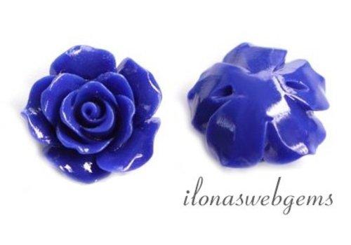 Coral rose bead cobalt
