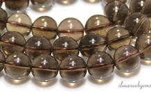 Rauchquarz Perlen etwa 14mm
