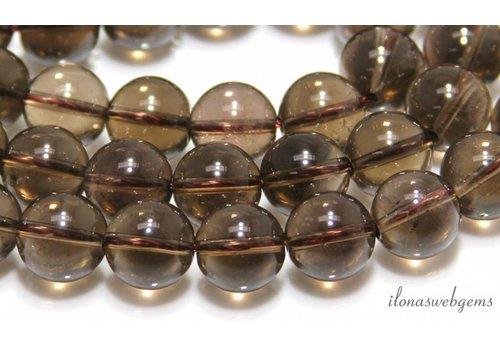 Smoky Quartz beads about 14mm