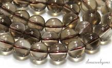 Rauchquarz Perlen etwa 12,5 mm