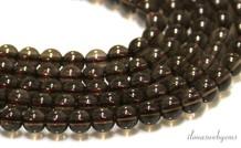 Rauchquarz Perlen etwa 4,5 mm