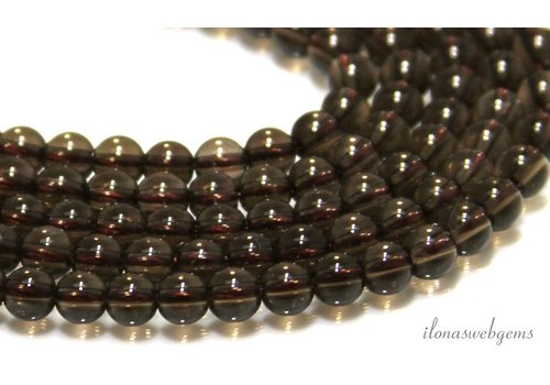 23cm Rauchquarz Perlen etwa 4,5 mm