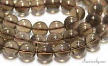 Rauchquarz Perlen etwa 6,5 mm
