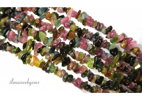 Tourmaline beads finely split approximately 6mm