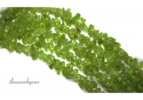Peridoot beads finely split approximately 5mm