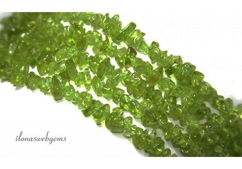 Peridoot Perlen aufgespalten fein ca. 5mm