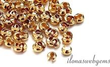 10 stücke Gold filled knijp Quetschringeschutz